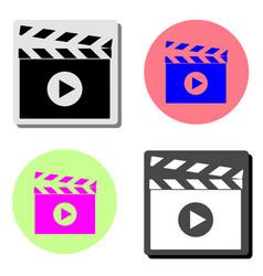 movie clapper cinema flat icon vector image