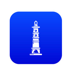 Navigate tower icon blue vector