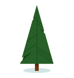 origami christmas tree isolated on white vector image