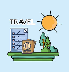 Passport checklist natural landscape tourist vector