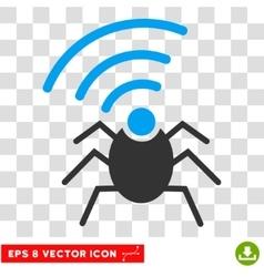Radio Spy Bug Eps Icon vector image