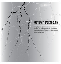 realistic lightning on dark background vector image