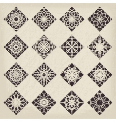 Rhombic Ornament Set vector image