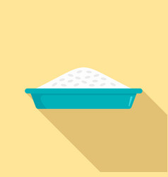 rice plate lunch icon flat style vector image