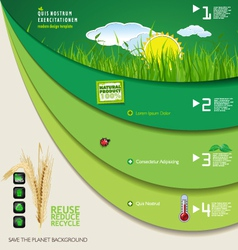 Save the planet green infographic vector