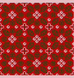 Scandinavian winter christmas knitted seamless vector