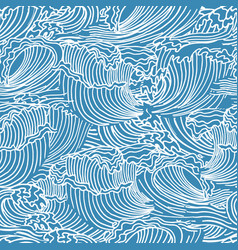 seamless background with swa waves vector image