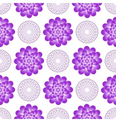 Seamless gentle floral pattern vector
