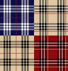 Seamless set fabric pattern vector