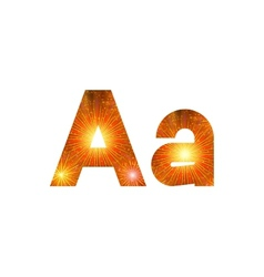 Set of letters firework A vector image