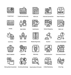 Shopping colored icons set 8 vector