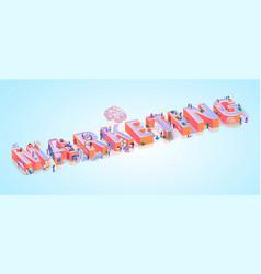 social media marketing advertising word banner vector image