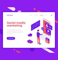 social media marketing people and interact vector image