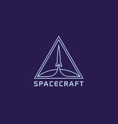 Spacecraft logo vector