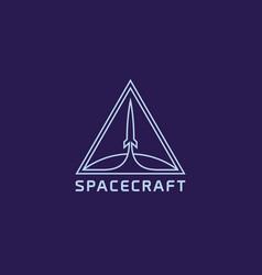 spacecraft logo vector image
