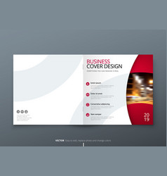Square brochure design magenta corporate business vector