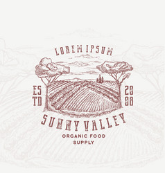 sunny valley retro badge or logo template hand vector image