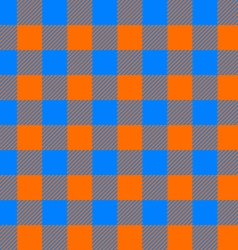 Tablecloth seamless pattern orange and blue vector