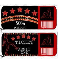 Ticket Sale voucher vector image