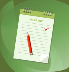 to do list or notebook icon concept vector image