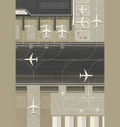 Top view airport vector