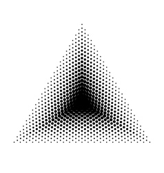 Triangle halftone geometric shapes Dot vector