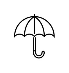 umbrella - line design single isolated icon vector image
