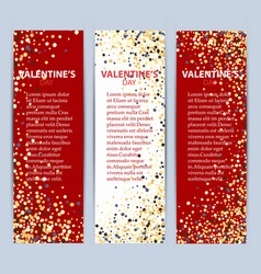 valentine s day collection sale banners eps10 vector image