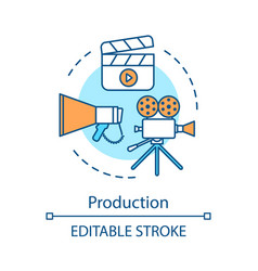 Video production concept icon vector