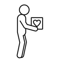 volunteer man icon outline style vector image