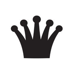 Crown black and white logo royal symbol vector image vector image