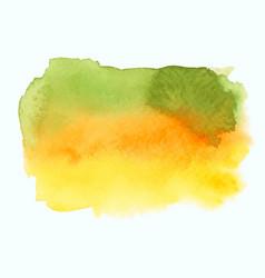 green and yellow watercolor gradient banner vector image vector image