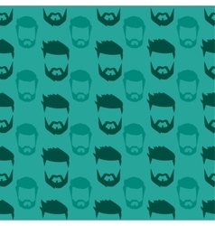 Hairstyle beard seamless pattern vector image vector image