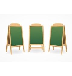 Menu Board Set Isolated vector image