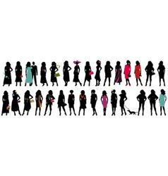 Women fashion silhouette vector image vector image