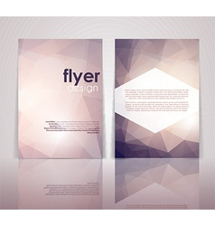 Double sided flyer design vector image