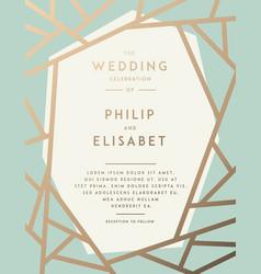 golden wedding invitation template vector image