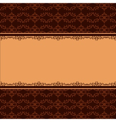 Ornamental background with decorative pattern vector image vector image