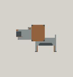 Pixel art dog vector