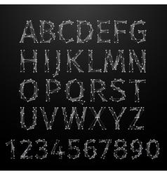 Polygonal Alphabet vector image vector image