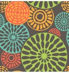 Seamless geometric tribal vintage patterns vector image