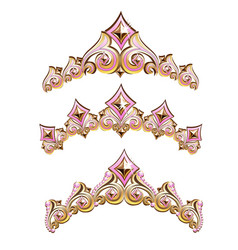 vintage jewelry diadem set vector image