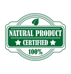 Green colored natural product label vector image