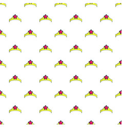 little princess crown pattern seamless vector image vector image