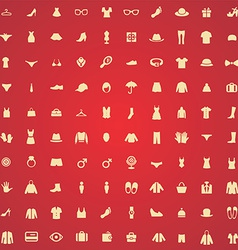 100 clothes icons vector image vector image