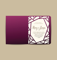 envelope for wedding invitation or greeting card vector image
