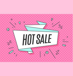 ribbon banner with text hot sale vector image