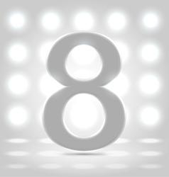 8 over back lit background vector image