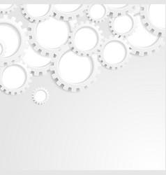Abstract grey tech paper gears mechanism vector
