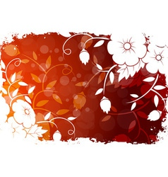 Abstract Grunge Flower Background vector image
